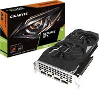 (1021754) Видеокарта Gigabyte PCI-E GV-N166TWF2-6GD NV GTX1660TI 6144Mb 192b GDDR6 1770/12000/HDMIx1/DPx3/HDCP