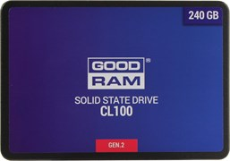 "(1021665) SSD жесткий диск SATA2.5"" 240GB CL100 SSDPR-CL100-240-G3 GOODRAM"