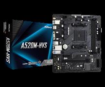 (1021906) Материнская плата Asrock A520M-HVS Soc-AM4 AMD A520 2xDDR4 mATX AC`97 8ch(7.1) GbLAN RAID+VGA+HDMI