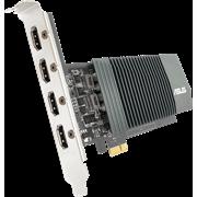 (1021942) Видеокарта Asus PCI-E GT710-4H-SL-2GD5 NV GT710 2048Mb 64b GDDR5 954/5012/HDMIx4/HDCP Ret