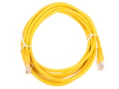 (1022257) Патч-корд UTP Cablexpert кат.5e, 5м, литой, многожильный (жёлтый)
