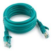 (1022255) Патч-корд UTP Cablexpert кат.5e, 5м, литой, многожильный (зелёный)
