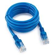 (1022254) Патч-корд UTP Cablexpert кат.5e, 5м, литой, многожильный (синий)