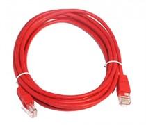 (1022251) Патч-корд UTP Cablexpert кат.5e, 3м, литой, многожильный (красный)