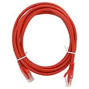 (1022236) Патч-корд UTP Cablexpert кат.5e, 1м, литой, многожильный (красный)