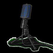 (1022273) Микрофон проводной Hama Stream 100 2м черный