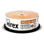 (1022328) Диск DVD+R Mirex 4,7 Гб 16x Cake box 25 шт.