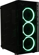 "(1022478) Корпус CROWN CMC-GS10RGB W/O (Gaming, Midi Tower,МП:ATX,БП:ATX,Размеры (Ш*Г*В) 205*455*410мм; сталь 0,5мм SPCC+закалённое стекло 4мм(левая+фронтальная) ; Отсеки  3,5"" внутренний 2шт. 2,5"" внутренний 4 шт. 2*USB 2.0+ 2*USB 3.0 MIС+HD SPK .7"