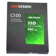 """(1022597) Твердотельный накопитель SSD 2.5"""" HIKVision 480GB С100 Series <HS-SSD-C100/480G> (SATA3, up to 550/470MBs, 3D TLC, 160TBW)"""