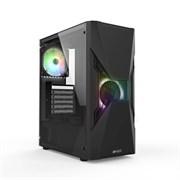 (1022592) Игровой корпус HIPER ORO-2RGB чёрный (ATX, закаленное стекло, RGB fan 2x120 мм, 1xUSB, HD Audio)