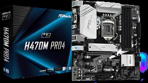 (1023609) Материнская плата Asrock H470M Pro4 Soc-1200 Intel H470 4xDDR4 mATX AC`97 8ch(7.1) GbLAN RAID+VGA+HD