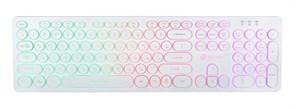 (1022659) Клавиатура Oklick 420MRL белый USB slim Multimedia LED