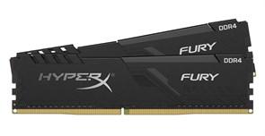 (1022661) Модуль памяти DDR 4 DIMM 16Gb PC27700, 3466Mhz, Kingston HyperX FURY Black CL16 (Kit of 2) (HX434C16FB3K2/16) (retail)