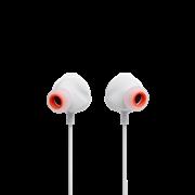 (1022810) Наушники JBL Проводная внутриканальная гарнитура с ползунковым регулятором громкости и кнопкой выключения микрофона JBL Quantum 50 белая
