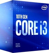 (1022660) Процессор CPU Intel Core i3-10100F BOX (S1200, 3600MHz up to 4300MHz/6Mb, 4C/8T, Comet Lake, 14nm, 65W)