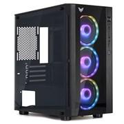 "(1023519) Корпус CROWN CMC-GS40RGB2 (CM-PS600W PLUS) (Gaming, Mini Tower,МП:mATX,БП:ATX,Размеры (Ш*Г*В) 200*410*340мм; сталь 0,5мм SPCC+закалённое стекло 4мм(левая+фронтальная) ; Отсеки  3,5"" внутренний 2шт. 2,5"" внутренний 2 шт. 2*USB 2.0+ 1*USB 3.0"