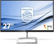(1023483) Монитор жидкокристаллический PHILIPS Монитор LCD 27'' [16:9] 1920х1080(FHD) IPS, GLARE, 250cd / m2, H178° / V178°, 1000:1, 20M:1, 16.7M, 5ms, VGA, DVI, HDMI, DP, Tilt, Speakers, Audio out, 2Y, Черный, Серебряный