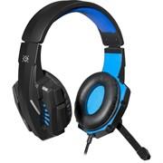 (1023454) Гарнитура WARHEAD G-390 BLACK/BLUE 64038 DEFENDER