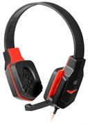 (1023453) Гарнитура WARHEAD G-320 BLACK/RED 64033 DEFENDER