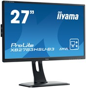 (1023420) Монитор жидкокристаллический Iiyama Монитор LCD 27'' [16:9] 1920х1080 MVA, nonGLARE, 300cd/m2, H178°/V178°, 3000:1, 12М:1, 16.7M Color, 4ms, VGA, HDMI, DP, USB-Hub, Height adj, Pivot, Tilt, HAS, Speakers, Swivel, 3Y, Black