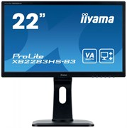 (1023418) Монитор жидкокристаллический Iiyama Монитор LCD 21.5'' 16:9 1920х1080(FHD) VA, nonGLARE, 250cd/m2, H178°/V178°, 3000:1, 80M:1, 16.7M Color, 4ms, VGA, HDMI, DP, Height adj, Pivot, Tilt, HAS, Speakers, 3Y, Black