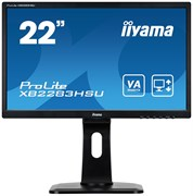 (1023415) Монитор жидкокристаллический Iiyama Монитор LCD 21.5'' 16:9 1920х1080(FHD) VA, nonGLARE, 250cd/m2, H178°/V178°, 3000:1, 80M:1, 16.7M Color, 4ms, VGA, HDMI, DP, Tilt, Speakers, Audio out, 3Y, Black
