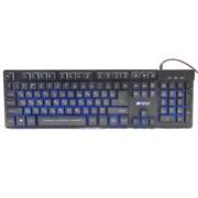 (1022608) Игровая клавиатура HIPER GENOME GK-3 чёрная (104кл, USB, мембранная, RGB подсветка)
