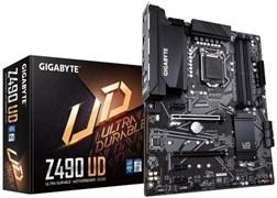 (1023602) Материнская плата Gigabyte Z490 UD Soc-1200 Intel Z490 4xDDR4 ATX AC`97 8ch(7.1) GbLAN RAID+HDMI