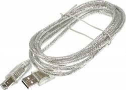 (1023613) Кабель USB A(m) USB B(m) 1.8м серый