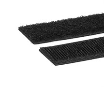 (1023638) Хомуты-липучки на основе ленты Velcro® VT-145x11BK  145 x 11 мм, черные (12 шт.)