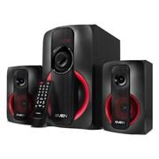 (1023745) Колонки Sven MS-304, 2.1 черный, красный 40Вт, MDF, Bluetooth, дисплей, ПДУ, FM-тюнер, USB, SD.