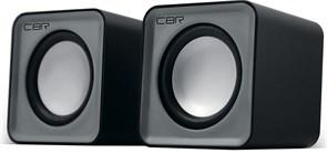 (1023744) CBR CMS 90 Grey, Акустическая система 2.0, питание USB, 2х3 Вт (6 Вт RMS), материал корпуса пластик, 3.5 мм линейный стереовход, регул. громк., длина кабеля 1 м, цвет серый