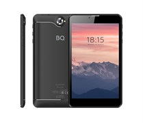 "(1021726) Планшетный компьютер BQ-7040G Charm Plus Black, металл, 7"" IPS 1024x600,  4х1.3 GHZ, 2GB+16GB, Android 9.0, 2x SIM, 2G/3G, WiFi, Bluetooth, GPS, камеры: 2.0 MP вспышка, + 0.3 MP, Micro SD, АКБ 2800."