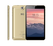 "(1021727) Планшетный компьютер BQ-7040G Charm Plus Gold, металл, 7"" IPS 1024x600,  4х1.3 GHZ, 2GB+16GB, Android 9.0, 2x SIM, 2G/3G, WiFi, Bluetooth, GPS, камеры: 2.0 MP вспышка, + 0.3 MP, Micro SD, АКБ 2800."