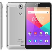 "(1021728) Планшетный компьютер BQ-7040G Charm Plus Silver, металл, 7"" IPS 1024x600,  4х1.3 GHZ, 2GB+16GB, Android 9.0, 2x SIM, 2G/3G, WiFi, Bluetooth, GPS, камеры: 2.0 MP вспышка, + 0.3 MP, Micro SD, АКБ 2800."