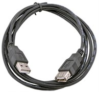 (1023870) Кабель удлинит. USB 2.0 Gembird AM/AF, 1.8м, черный, пакет