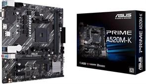 (1023820) Материнская плата Asus PRIME A520M-K Soc-AM4 AMD A520 2xDDR4 mATX AC`97 8ch(7.1) GbLAN RAID+VGA+HDMI