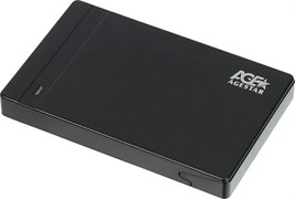 "(1024037) Внешний корпус для HDD/SSD AgeStar 3UB2P3 SATA III пластик черный 2.5"""