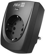 (1023831) Сетевой фильтр Pilot Bit (1 розетка) черный (коробка)