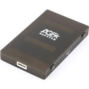 "(1023828) Внешний корпус для HDD/SSD AgeStar 3UBCP1-6G SATA пластик белый 2.5"""