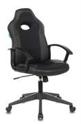 (1024057) Кресло игровое Бюрократ VIKING-11 черный искусст.кожа/ткань крестовина пластик