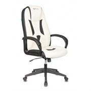 (1024058) Кресло игровое Бюрократ VIKING-8N белый/черный искусственная кожа крестовина пластик