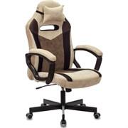 (1024059) Кресло игровое Бюрократ VIKING 6 KNIGHT Fabric коричневый с подголов. крестовина металл