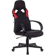 (1024060) Кресло игровое Бюрократ ZOMBIE RUNNER черный/красный текстиль/эко.кожа крестовина пластик