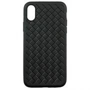 (1018065) Накладка силиконовая плетеная Krutoff для iPhone 11 Pro Max (black)