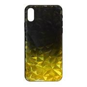 (1020202) Накладка силиконовая Crystal Krutoff для iPhone XS Max (желто-черная)