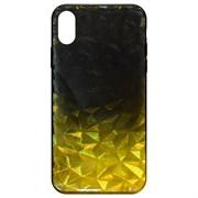 (1020200) Накладка силиконовая Crystal Krutoff для iPhone X/XS (желто-черная)