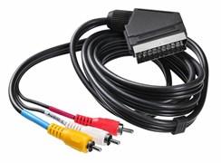 (1024331) Кабель соединительный аудио-видео Buro SCART (m)/3х RCA (m) 2м. черный (BSC005-2)  (817210)