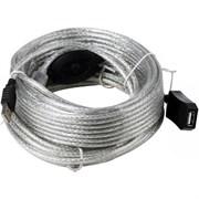 (1024329) VCOM VUS7049-20M Кабель-адаптер USB2.0-repeater, удлинительный активный <Am-->Af> 20м