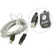 (1024328) VCOM VUS7049-5M Кабель-адаптер USB2.0-repeater, удлинительный активный <Am-->Af> 5м